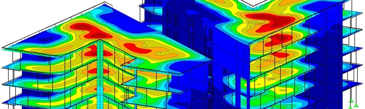 Neubau eines Verwaltungsgebäudes [Fotoquelle: Ausdruck aus RFEM von Dlubal Software GmbH]