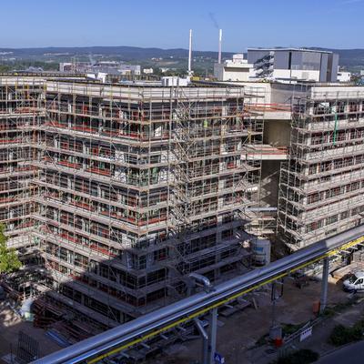 Ecke Südost (Rohbauendphase) [Fotoquelle: Boehringer Ingelheim Pharma GmbH & Co. KG]