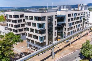 Ecke Südost (Innenausbauphase) [Fotoquelle: Boehringer Ingelheim Pharma GmbH & Co. KG]
