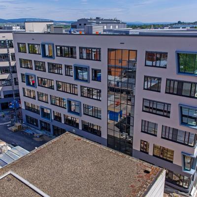Ecke Südwest (Innenausbauphase) [Fotoquelle: Boehringer Ingelheim Pharma GmbH & Co. KG]